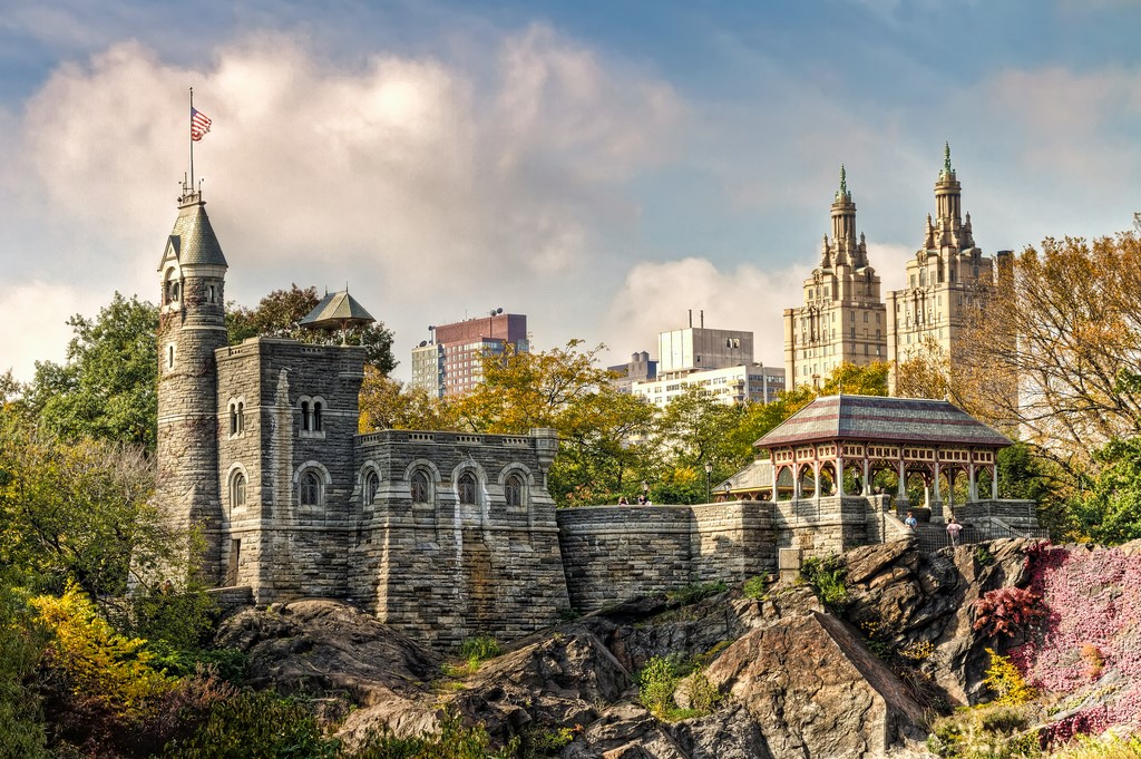 Renovations At Belvedere Castle In Central Park
