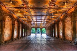 A photo of Bethesda Passage in Central Park New York City.