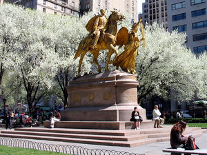 A photo of the statue at Grand Army Plaza in New York City.