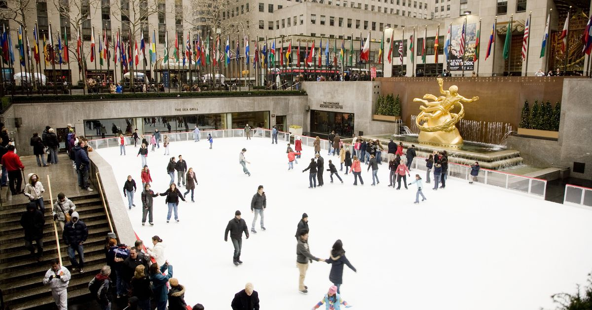 On the 6th day of Christmas… Ice Skating at Rockefeller Center or Bryant Park or Central Park