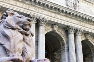 Front of the New York Public Library