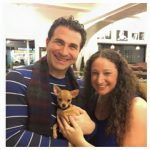 Patrick and Nicole of Top Dog Tours with a Chihuaha