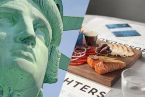 Statue of Liberty and Lower East Side Food